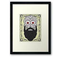 Skull Beard Framed Print