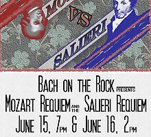 Mozart V. Salieri Poster Job by BenArney