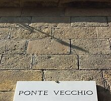 Ponte vecchio plaque in Florence by kirilart