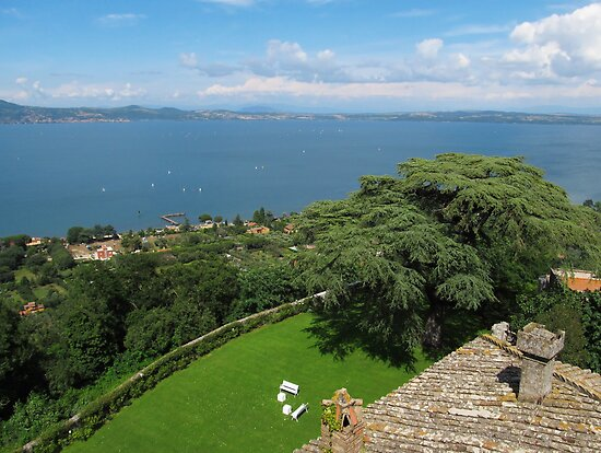 Lake Bracciano Panoramic view by kirilart