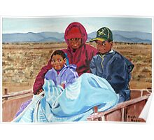 In the cart - Tankwa Karoo school transport Poster
