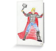 Norse God of Thunder Greeting Card