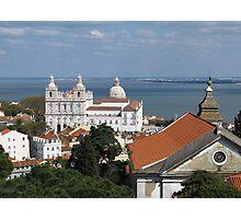 Lisbon Panoramic view toward The Vasco da Gama Bridge Photographic Print