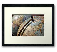 Vintage Globes Framed Print