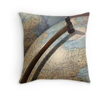 Vintage Globes Throw Pillow