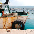 Rusted Fishing Trawler at Izola by jojobob