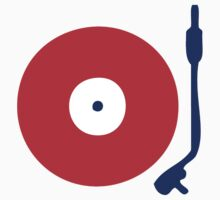 Red White Blue Turntable by retrorebirth