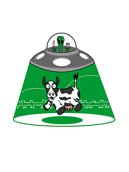 UFO FAST FOOD PICK UP  by robotghost