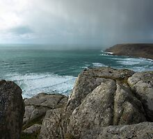 April Snow.Cape Cornwall. by rennaisance