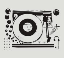 Vinyl Record Turntable Stencil by retrorebirth