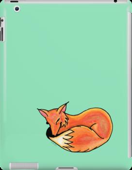 Big Fox Sleeping by Amy-Elyse Neer