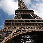 Looking Up The Eiffel Tower's Skirt by Talia Felix