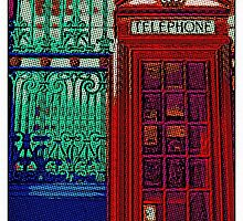 Pop art phone box by Karentreefern