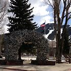 Jackson Hole, Wyoming square by Tisha Clinkenbeard