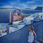 Breezy Day in Santorini by Brian Scurfield