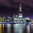 London skyline by night by Michael Abid