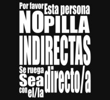 Se ruega, sea directo/a (Version negra) by RedIron