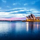 Sunrise over Sydney Opera house by Adriano Carrideo