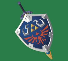 Link's Master Sword and Shield by Hunter-Blaze