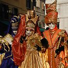 Carnival Goers in Costume, Venice by jojobob