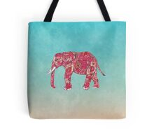 Whimsical Colorful Elephant Tribal Floral Paisley Tote Bag