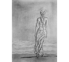 Lonely walk on the seashore Photographic Print
