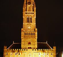 Bruges Belfry At Night by Richard Nelson