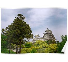 Castle at Hiimeji With Trees, Kansai, Japan Poster