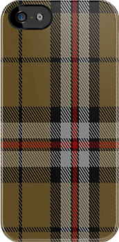01485 Thomson Camel (Jedburgh Mills) Fashion Tartan Fabric Print Iphone Case by Detnecs2013