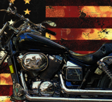 Cool Union Flag, Stars and Stripes, Motorcycle Sticker