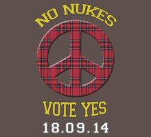 No Nukes Scottish Independence T-Shirt by simpsonvisuals
