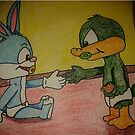baby buster and baby plucky first meet  by StuartBoyd