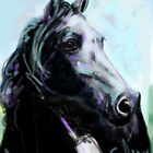 Horse, painted black by Go van Kampen