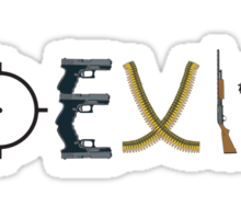coexist with guns Sticker