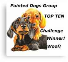 Painted Dogs Top Ten banner No.2 Canvas Print
