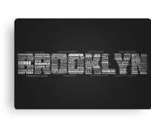 Brooklyn New York Typography Word Canvas Print