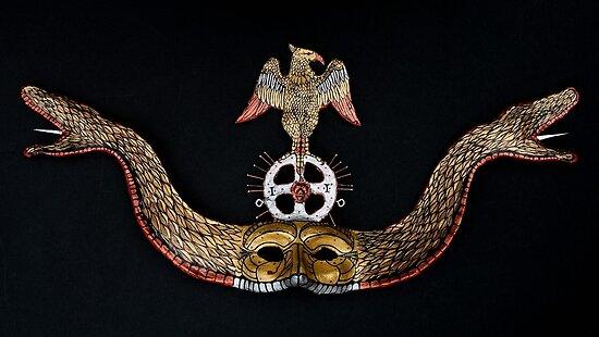 Snake Mask-Paper mache by Diegomrios