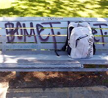 UB Bicycle's Bag Two - A Park Bench - Don't Duck by Robert Phillips