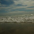 Sand, Foam, Sky by Chad Burrall