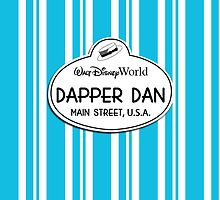 WDW Dapper Dans Name Tag - Blue by jdotcole