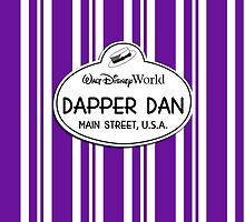 WDW Dapper Dans Name Tag - Purple by jdotcole