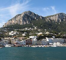 Island Capri panoramic Sea view by kirilart