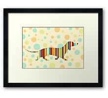 Dachshund Fun Colorful Abstract Framed Print