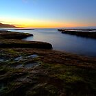 Dawn over the rocks by collpics