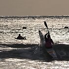 Kayaker at Lorne 2013 by PaperRosePhoto