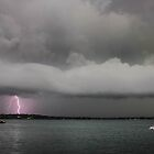 Lighting Strikes over the Harbour by nicktopus