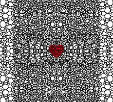 Pattern 19 - Heart Art - Black And White Exquisite Pattern By Sharon Cummings by Sharon Cummings