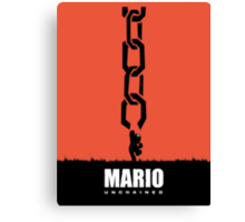 Mario Unchained Canvas Print
