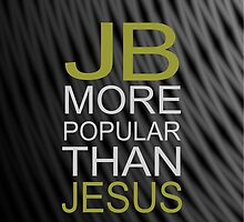 Justin Bieber iPhone case- JB is more popular than jesus by RokkaRolla