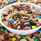 Trail Mix in White Bowl by dbvirago